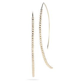 Mizuki Large Cut Bead Open Marquis Earrings