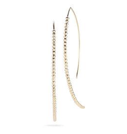 Large Cut Bead Open Marquis Earrings