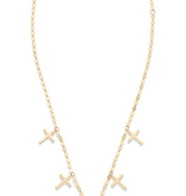 Lana Five Hanging Cross Necklace