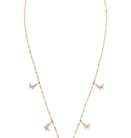 Lana Flawless Five Butterfly Charm Necklace