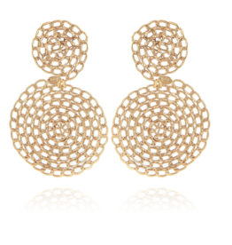 Gas Bijoux Onde Gourmette Earrings Gold