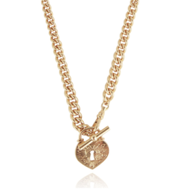 Gas Bijoux Locked Necklace Gold