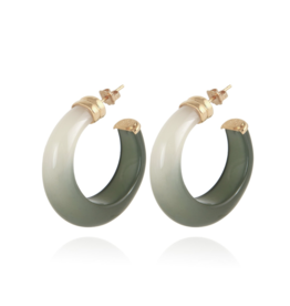 Gas Bijoux Abalone Earrings Green