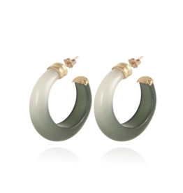 Abalone Earrings Green
