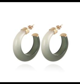 Gas Bijoux Abalone Earrings Green