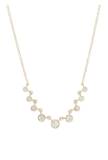 Zoe Chicco 14k gold 9 Linked Graduated Bezel Diamond Necklace