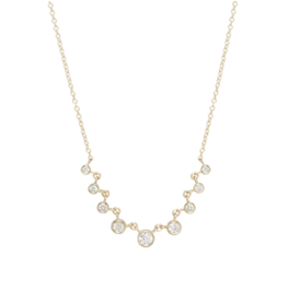 Zoe Chicco 14k gold 9 Linked Graduated Bezel Diamond Necklace