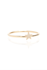 Zoe Chicco 14k Gold Single Itty Bitty Star Stack Ring