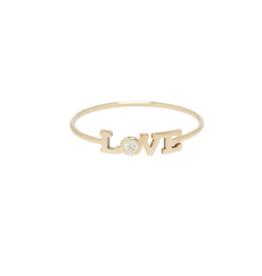 Zoe Chicco 14k Itty Bitty Diamond Love Ring
