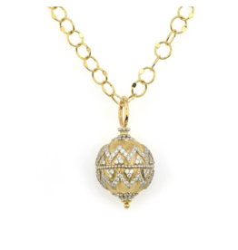 Jude Frances Moroccan Pave Round Bauble