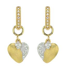 Jude Frances 18KY Pave Heart Diamond Charm