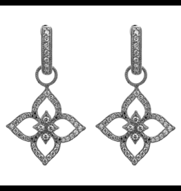Jude Frances Moroccan Flower Open Earring Charms White Gold