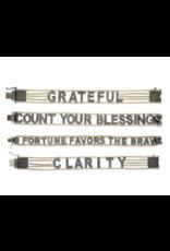 "Eden Presley Small Font ""Count Your Blessings"" Mantra Bracelet"
