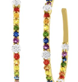 Eden Presley Rainbow Hoop Earring Large
