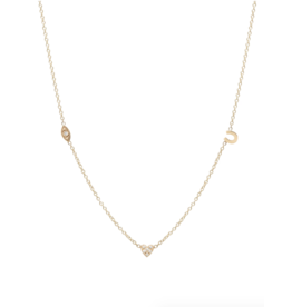 Zoe Chicco 14K Itty Bitty Eye Heart U Necklace