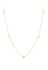 Zoe Chicco 14K Itty Bitty Hearts Necklace with 1 Pave Heart