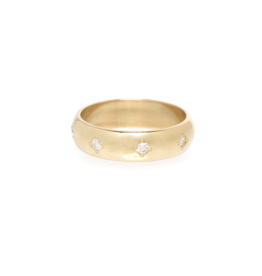Zoe Chicco 14K Half Round with 8 Star Set Diamonds Ring