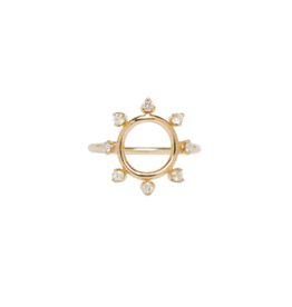 Zoe Chicco 14K Large Circle and 8 Prong Set Diamond Rings