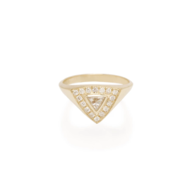 Zoe Chicco 14K Trillion Diamond and Pave Diamond Ring