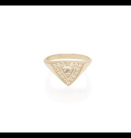 Zoe Chicco 14K Trillion Diamond and Pave Diamond Ring