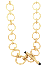 Dean Davidson Bamboo Link Necklace Gold With Black Onyx Detail