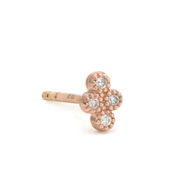 Jude Frances Rose Gold Petite Diamond Quad