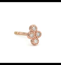 Rose Gold Petite Diamond Quad