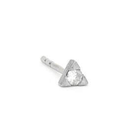 Jude Frances White Gold Petite Diamond Trillion Stud