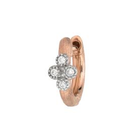Jude Frances Rose Gold Petite Brushed Diamond Quad Hoop