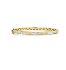 Jude Frances Lisse Raised Pyramid Diamond Pave Bangle