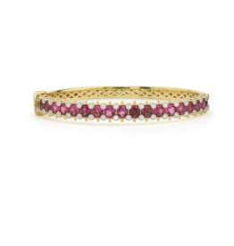 Jude Frances Provence Pave Round Stone And Diamond Bangle