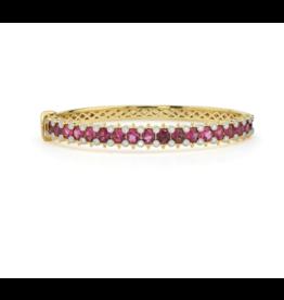 Provence Pave Round Stone And Diamond Bangle