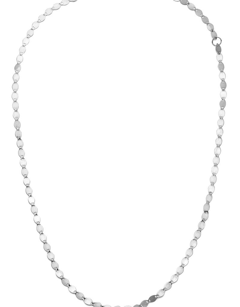 Lana Nude Chain Choker in White Gold