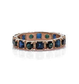 Armenta Rose Gold and Blue Sapphire Stack Ring