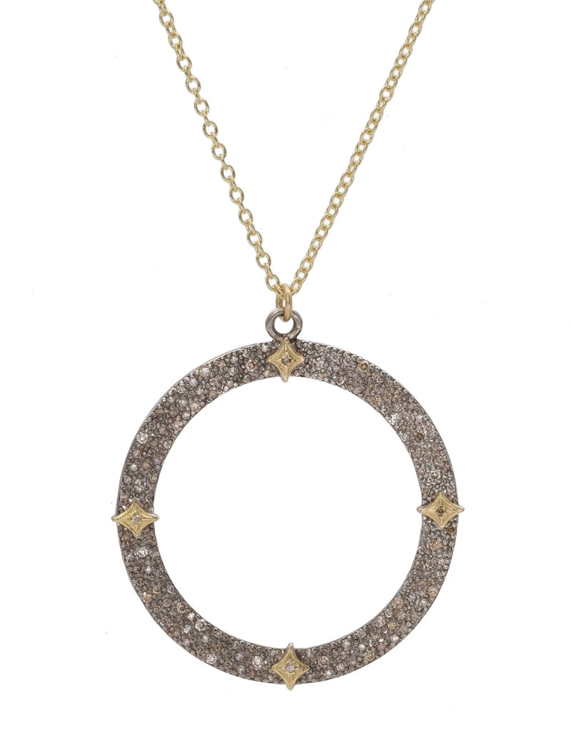 Armenta Old World Pave Open Circle Necklace