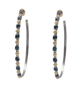 Armenta OW 52MM Blue Green Tourmaline Hoops