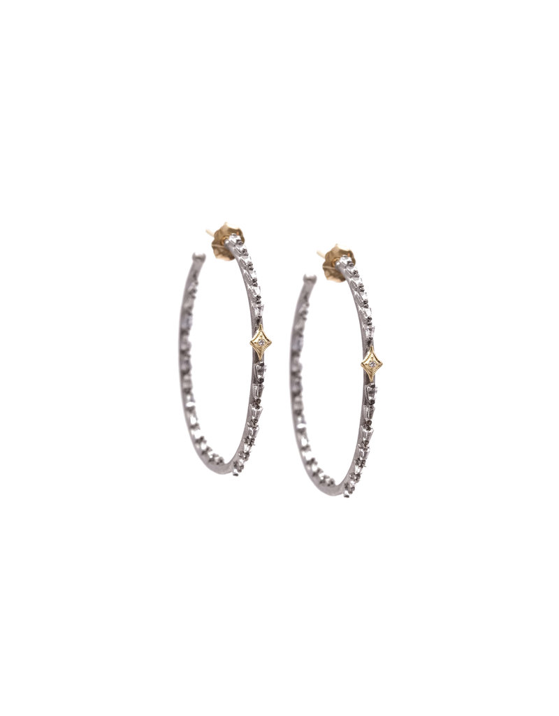 OW 35MM Crivelli Sapphire Baguette Hoops