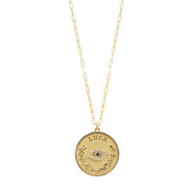 Noush Daric Medallion Luck Necklace