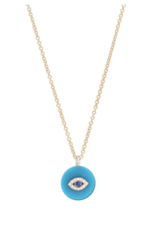 Noush Evil Eye Turquoise and Sapphire Necklace