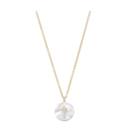 Cross on Mother of Pearl Necklace