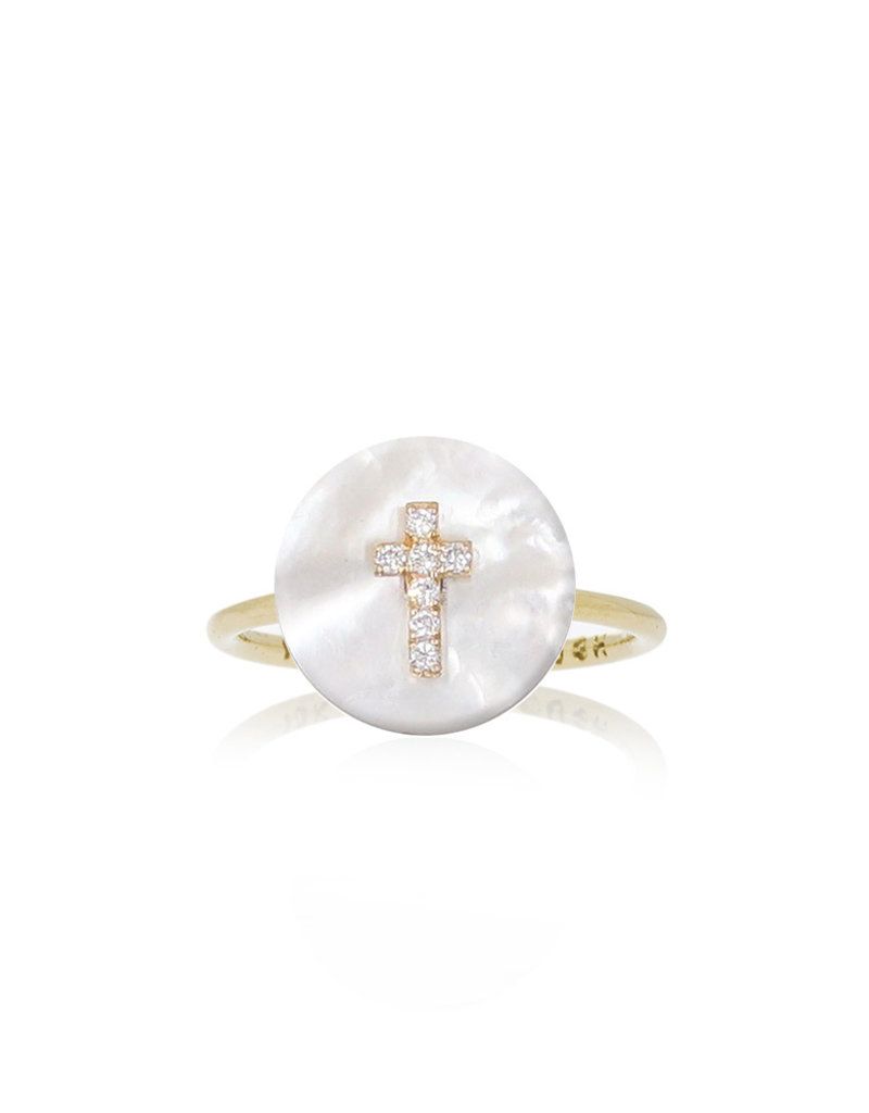 Noush Cross on Mother of Pearl Ring