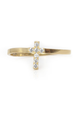 Noush Pave Cross Ring