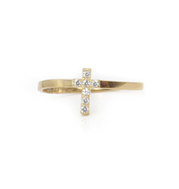 Noush Pave Cross Ring