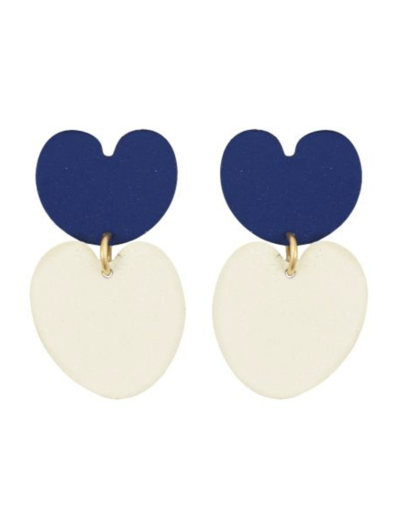 We Dream In Colour Navy Lily Pad Earrings