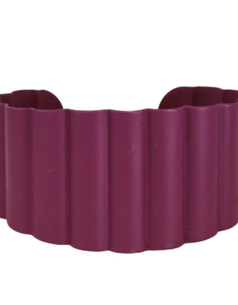 We Dream In Colour Malbec Ruffle Cuff
