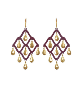We Dream In Colour Malbec Taru Earrings