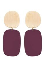 We Dream In Colour Malbec Cubist Earrings