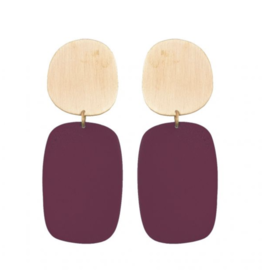We Dream In Colour Malbec Cubist Earrings