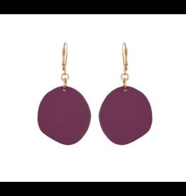 Single Malbec Pebble Earrings