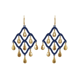 We Dream In Colour Navy Taru Earrings